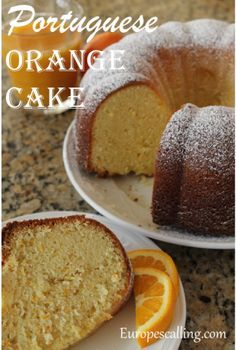 My Tia Elizabeth makes the best orange cake. Orange Recipes, Sweet Recipes, Cake Recipes, Dessert Recipes, Portuguese Desserts, Portuguese Recipes, Portuguese Food, Portuguese Tarts, Spanish Recipes