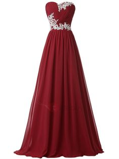 #NewYear #TideBuy - #TideBuy Hot Sale Sweetheart Pleats Appliques Lace-up Long Evening Dress - AdoreWe.com
