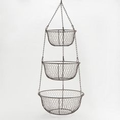 One of my favorite discoveries at WorldMarket.com: Three-Tier Hanging Wire Basket