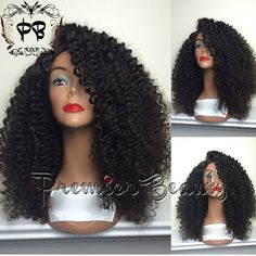 Freeshipping curly human hair wigs glueless full by PREMIERBEAUTY