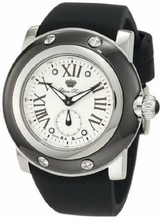 Glam Rock Men's GRD10029 Miami Silver Textured Dial Black Silicone Watch Glam Rock. $173.75. Water-resistant to 100 m (330 feet). Mineral crystal with sapphire coating; polished stainless steel case with black ion-plated cover; black silicone strap. 60 second subdial. Silver textured dial with black hands and roman numerals; luminous; stainless steel bezel and crown with black cabochon. Swiss quartz movement