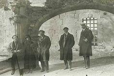 Visita d'Albert Einstein a Poblet, durant la seva estada a Catalunya el febrer de 1923