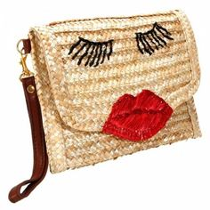Korean Wild Carry Shoulder Bag This bag is made out of straw material which contains 2 pockets and comes in a golden yellow and red. Golden Yellow, Making Out, Reusable Tote Bags, Korean, Shoulder Bag, Punch, Red, Internet, Pockets