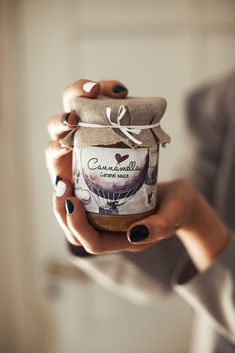 Hand-made with love sweet caramel sauce by CannamellaCaramel Micro Photography, Food Photography Styling, Food Styling, Jar Packaging, Food Packaging Design, Kombucha, Food Poster Design, Dessert In A Jar, Chocolates