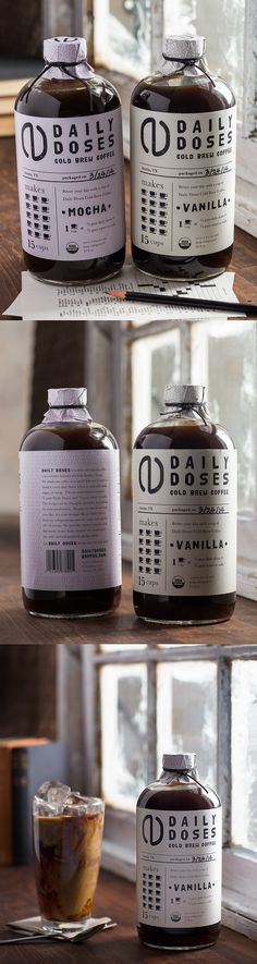 Daily Doses, a cold brew packaging project by Joanne Kim Milnes #coldbrew…