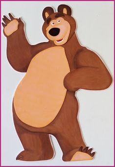Onaily: MASHA Y EL OSO EN GOMA EVA Baby Birthday Cakes, Bear Birthday, Toy Story Birthday, Beginner Quilt Patterns, Quilting For Beginners, Masha Et Mishka, Brown Bear Book, Marsha And The Bear, Pet Max