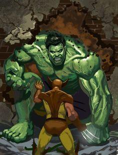 #Hulk #Fan #Art. (Hulk vs Wolverine) By: ArtofTu. ÅWESOMENESS!!!™ ÅÅÅ+