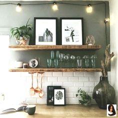 New kitchen shelves wooden woods 67 Ideas Kitchen Paint, Kitchen Colors, Kitchen Backsplash, New Kitchen, Kitchen Small, White Tile Kitchen, Paint Bathroom, Kitchen Artwork, Backsplash Ideas