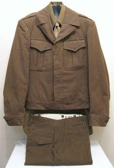 Original WWII WW2 USAAF U.S. Army Military Uniform (Size 36L) 1945 ~MINTY~