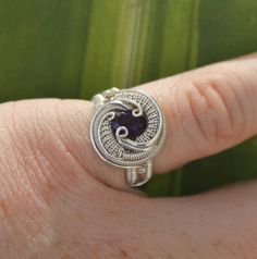 Size 7 / Faceted amethyst wire wrapped ring / beautiful handmade jewelry on Etsy, $139.00