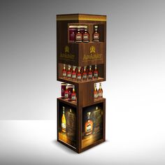 Display shelves & mobile bars for Pernod Ricard KZ on Behance