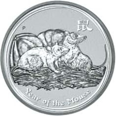 2008 Year of the Mouse (Rat) - Australian Silver Lunar Bullion Coin - Series II - Reverse Side