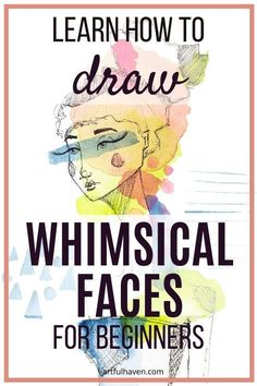 Art Journal Prompts, Sketch Journal, Doodle Art Journals, Art Journal Techniques, Art Journaling, Mixed Media Faces, Drawing Classes, Female Face Drawing, Drawing Tutorials For Beginners