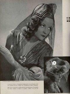 Coiffe de Caroline Reboux 1945