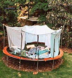 IF YOUR kids haven't used their trampoline in years, you may be planning to take it to the dump as soon as lockdown's over. Sleepover Room, Fun Sleepover Ideas, Sleepover Activities, Summer Activities, Trampolines, Trampoline Tent, Things To Do At A Sleepover, Dream Dates, Cute Date Ideas