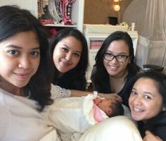 Baby Z with beautiful Aunts