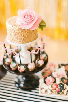 Modern Glam Kate Spade Birthday Party via Kara's Party Ideas | KarasPartyIdeas.com (19)