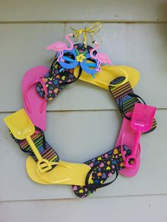 Flip Flop Wreath by LivvyBugLane on Etsy, $20.00