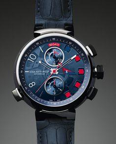La montre Tambour Spin Time Régate de Louis Vuitton http://www.vogue.fr/joaillerie/a-voir/diaporama/horlogerie-les-montres-louis-vuitton-prennent-le-large-pour-l-america-s-cup-louis-vuitton-cup-san-francisco-regates/14320/image/802646#!6