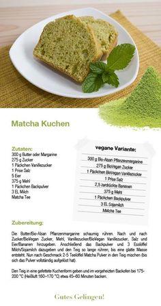 Rezept Matcha - Tee Matcha Tee, Ethnic Recipes, Food, Matcha Cake, How To Make Tea, Life, Koken, Meals