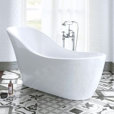1730mmx725mm Evelyn Freestanding Bath - soak.com