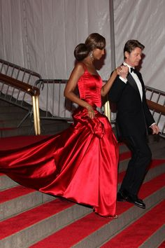 I love this couple.~~Iman in Dolce & Gabbana, 2008