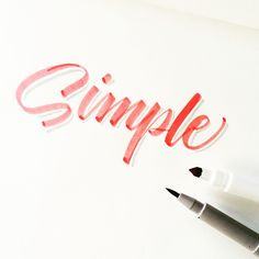 Just keep it simple. #calligrafikas#crayolamarkers #crayolalettering