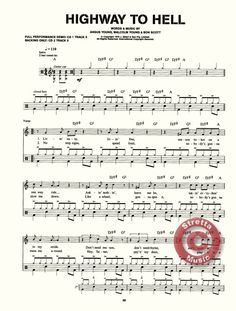 drum sheet music alhighway to hell | ... back in black demo back in black playalong highway to hell demo