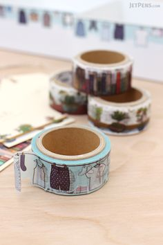 Round Top Yano Design Washi Tapes have die-cut edges and whimsical designs that are perfect for planners and calendars.