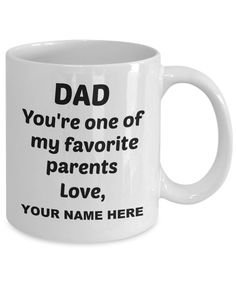 Dear Dad, Great Gifts For Men, Just Because Gifts, Dad Mug, Stainless Steel Travel Mug, Make Me Happy, Teacup, Funny, White Ceramics