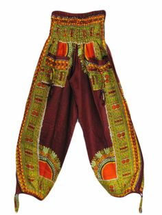 Yoga Trendz African Ethnic Print Bohemian Harem Pants  I have been so in love with African Print clothes and these are pants that I actually really like considering that it's a little hard for me to find clothes I like with ethnic inspired print.   http://www.amazon.com/gp/product/B00BQGRBMM/ref=as_li_qf_sp_asin_il_tl?ie=UTF8=1789=9325=B00BQGRBMM=as2=httpwwwhow018-20