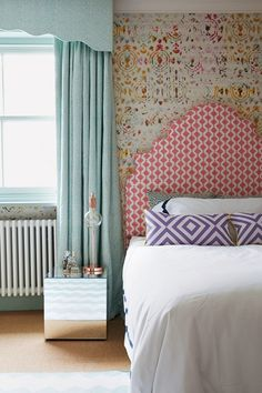 Discover bedroom design ideas on HOUSE - design, food and travel by House & Garden including this kid's room filled with pattern and soft colours.