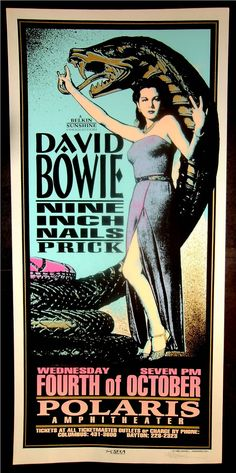 David Bowie and NIN... i bet that was a great show.