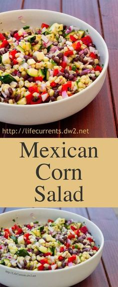 Mexican Corn Salad is a great healthy side dish or even a dip to serve with chips! Perfect for any party or gathering Mexican Corn Salad is a great healthy side dish or even a dip to serve with chips! Perfect for any party or gathering Healthy Sides, Healthy Side Dishes, Mexican Food Recipes, Vegan Recipes, Cooking Recipes, Mexican Desserts, Freezer Recipes, Freezer Cooking, Healthy Breakfast Desayunos
