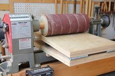 Lathe based thickness sander