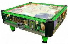 QuadAir Junior 4 Player Non Coin Kids Air Hockey Table - Quad Air Jr. is the baby brother to the original QuadAir with a Kids-Friendly Jungle Theme!  QuadAir Jr has all of the same features, but with a smaller footprint...