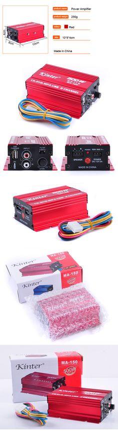 Kinter MA-150 AMP 2CH 500W USB Hi-Fi Digital Stereo Amplifier Car/ Motorcycle / Boat /MP3/MP4/CD MA-150 - Car Toys Store | Accessories, Car Camera, Car Video Players, Audio, Car DVRs