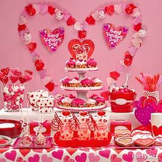 10 sweet ideas for a fabulous candy buffet party city valentines - Party City Valentine Decorations
