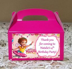 Printed Labels - Boxes Available - Fancy Nancy Treat Labels, Fancy Nancy Candy Bags, View ALL photos for more info Fancy Birthday Party, Birthday Box, Birthday Crafts, Teenager Stocking Stuffers, Home Made Candy, Birthday Presents For Him, Diy Gifts For Dad, Fancy Nancy, Party Favors