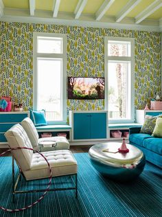 turquoise playroom | Andrew Howard Interior Design