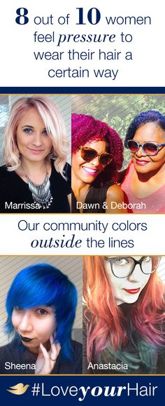 Dove Hair believes that you should wear your hair YOUR way, because that's beautiful hair. So go ahead—color outside the lines! Join our community to see why you should #LoveYourHair at Pinterest.com/DoveHair.