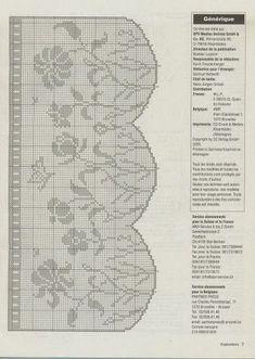 filet crochet - flowers in a garden Filet Crochet Charts, Crochet Borders, Crochet Cross, Crochet Motif, Crochet Doilies, Knit Crochet, Crochet Patterns, Crochet Flowers, Crochet World