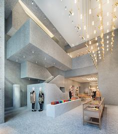 Valentino Flagship Store by David Chipperfield - focus is on product. (dezeen.com)