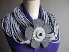 Handmade cloth necklace