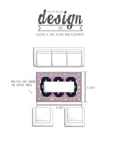 Caitlin Wilson Design | How to size and place your rugs