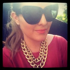 House of Harlow sunglasses & HRH Collection necklace