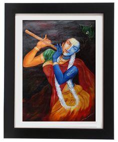 My New Work Title: Radhakrishna Medium: Acrylic On Canvas Size: 20X26inch