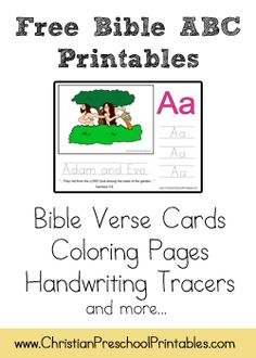 Bible ABC Printables (F is for Fish and Loaves, etc.)