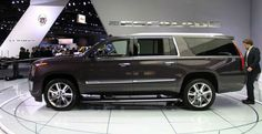 """Cadillac Sky Captain Price 2017 >> 26"""" Lexani Wheels R-Four SUV in Gloss Black Machined on a 2015 Cadillac Escalade. http://www ..."""