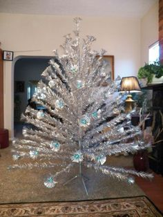 the aluminum christmas tree. Our only had pink mercury glass ...